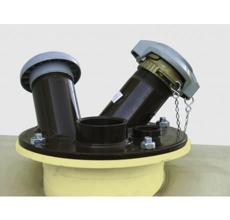 Domdeckel Stahl für Dieseltankstationen