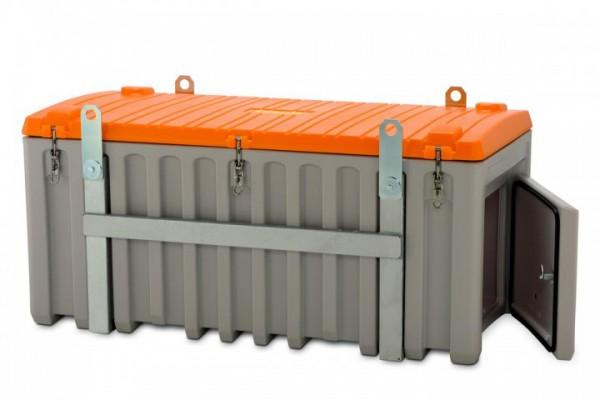 Werkzeugbox Cembox kranbar aus PE grau/orange mit Seitentür