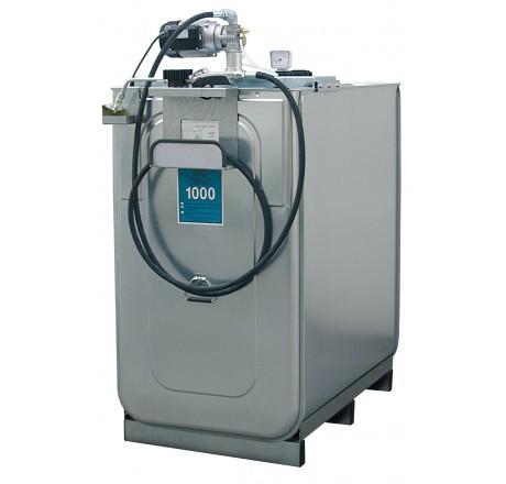 Schmierstoff-Tankanlage ECO mit Elektropumpe 4m Schlauchhalter