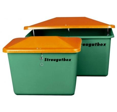 Streugutbehälter V grün-orange ohne Entnahme Vandalismusdeckel