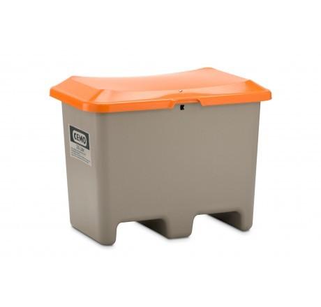 Streugutbehälter Plus3 grau-orange ohne Entnahme mit Staplertaschen