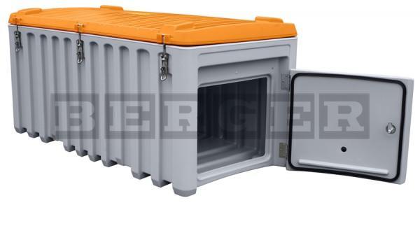 Werkzeugbox Cembox aus PE grau-orange mit Seitentür