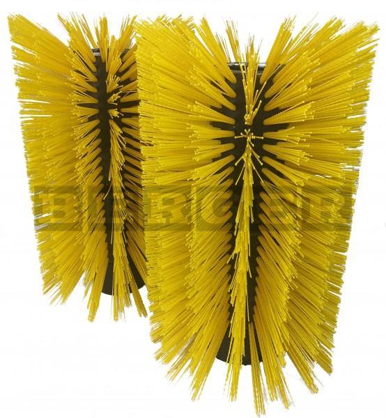 Kehrwalzensatz für Kehrmaschinen je Ø520 x 540mm Kunststoff gelb