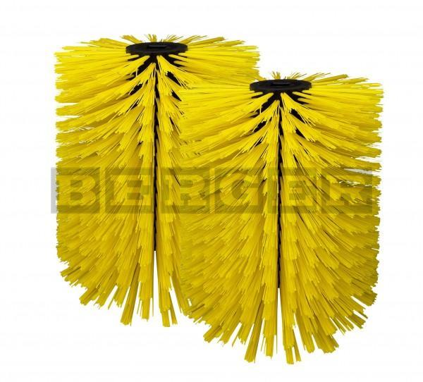 Kehrwalzensatz für Kehrmaschinen je Ø400 x 750mm Kunststoff gelb