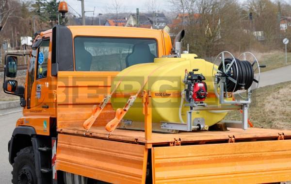 Mobiles Bewässerungssystem BWS 130 mit Pumpe und Schlauchhaspel