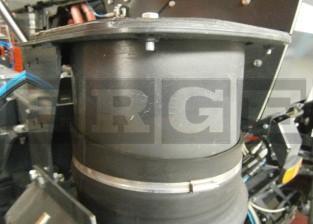 Kehrmaschinen Rohrflansch drehbar L 300mm