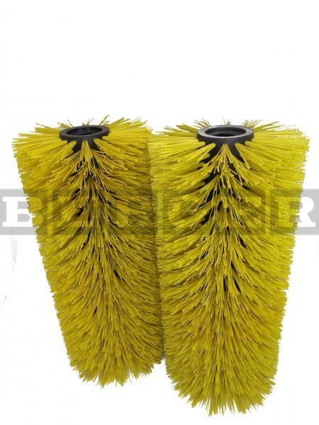 Kehrwalzensatz für Kehrmaschinen je Ø350 x 750mm Kunststoff gelb