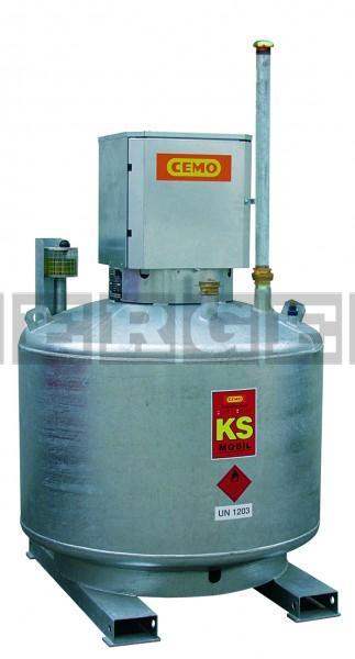 Kraftstoffanlage KS-Mobil doppelwandig mit abschließbarem Pumpenschrank