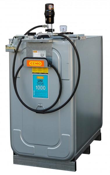 Schmierstoff-Tankanlage ECO mit Pneumatik-Pumpe 15m offener Aufroller