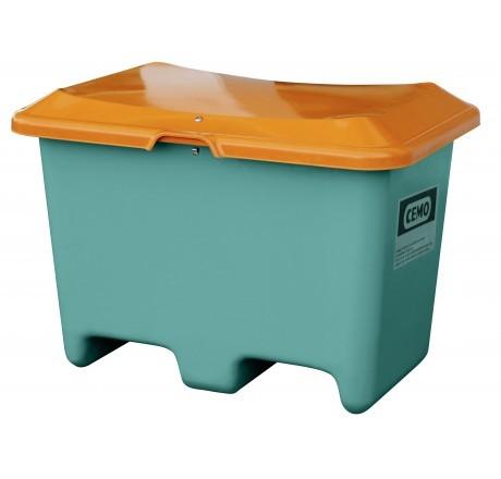 Streugutbehälter Plus3 grün/orange ohne Entnahme mit Staplertaschen
