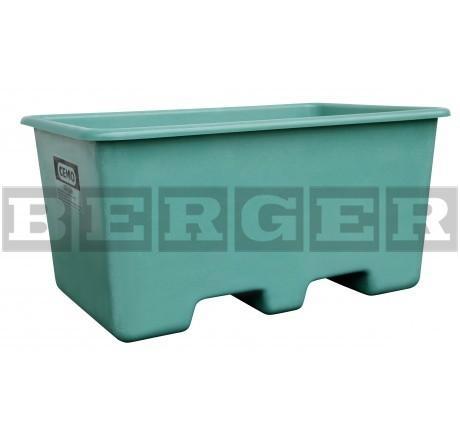 GFK Rechteckbehälter grün unterfahrbar