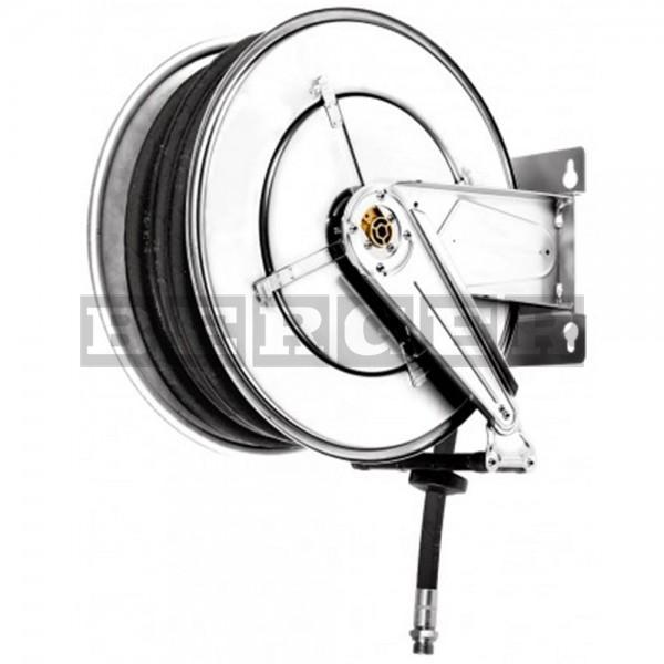 Schlauchaufroller offen 10 m aus Edelstahl für AdBlue® & Wasser