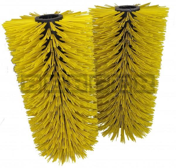 Kehrwalzensatz für Kehrmaschinen Ø400 x 1500mm Kunststoff gelb