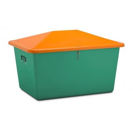 Streugutbehälter grün-orange ohne Entnahme
