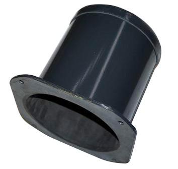 Rohrflansch drehbar & gummiert L 220mm