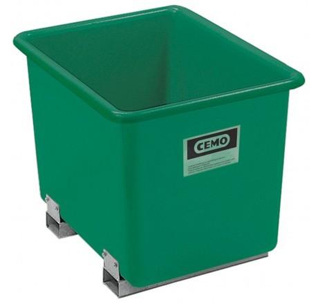 GFK Rechteckbehälter grün mit Staplertaschen